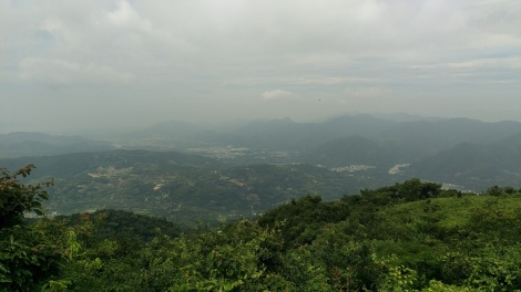 A view from the top of the mountain.